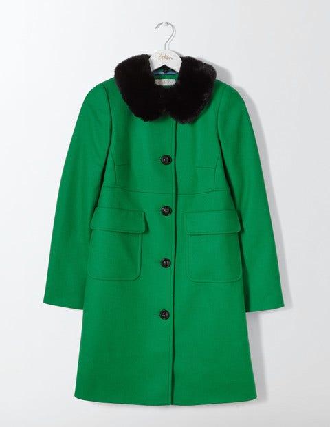 Vintage Style Coats, Jackets, Faux Fur, Tweed Claudette Coat Highland Green Women Boden Green £198.00 AT vintagedancer.com