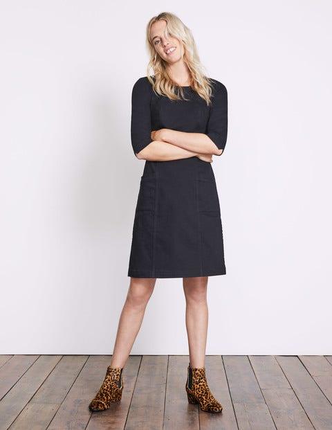 Corinne Denim Dress Black Denim Women Boden