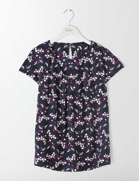V Neck Ravello - Navy Sprig