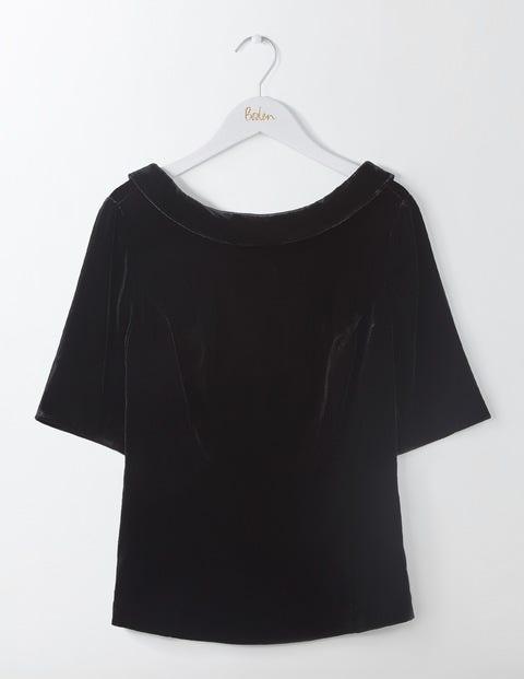 Vintage & Retro Shirts, Halter Tops, Blouses Velvet Martha Top Black Women Boden Black £98.00 AT vintagedancer.com