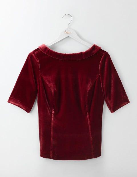 Vintage & Retro Shirts, Halter Tops, Blouses Velvet Martha Top Wine Women Boden Purple £98.00 AT vintagedancer.com