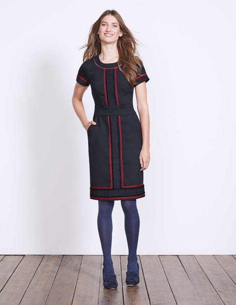 Edith Trim Detail Dress W0061 Smart Day At Boden