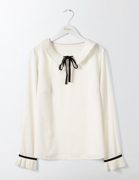Vintage & Retro Shirts, Halter Tops, Blouses Frieda Top Ivory Women Boden Ivory £75.00 AT vintagedancer.com