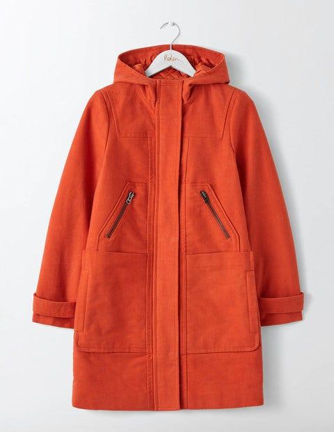Moleskin Duffle Coat Autumn Spice Women Boden