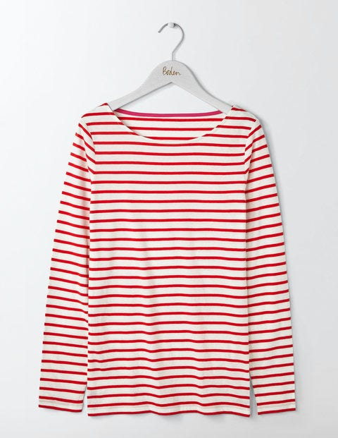 Long Sleeve Breton Red Women