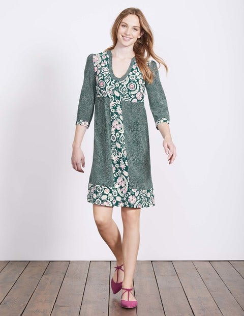 Mollie Dress - Emerald Night Arabesque