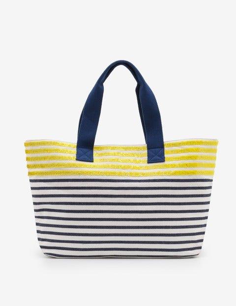 Milos Beach Bag Citrus Sequin/Blue Decadence Women Boden