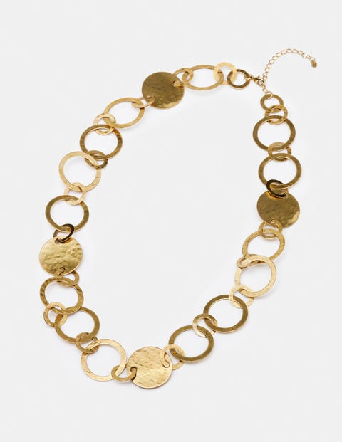 Madeline Longline Necklace - Antique Gold Metallic