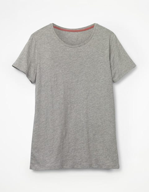 The Cotton Crew Neck Tee - Grey Marl