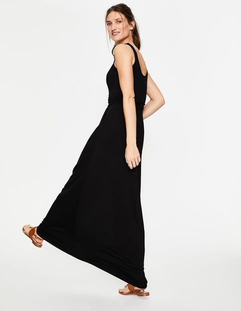 8f31b4f6cb2 Robe Longue Diana En Jersey - Noir