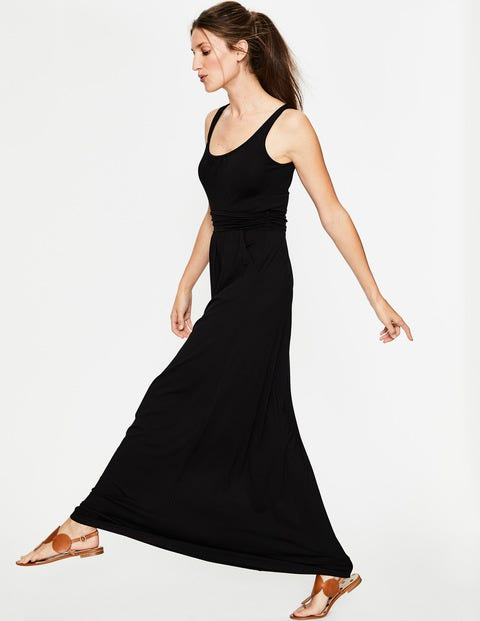 Diana Jersey Maxi Dress - Black
