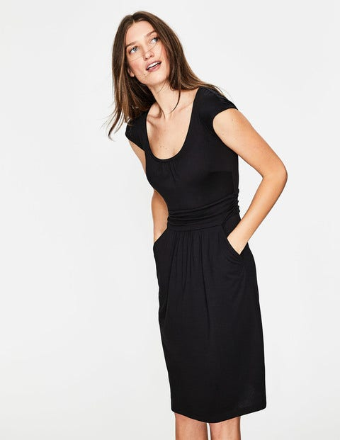 Robe Margot En Jersey - Noir