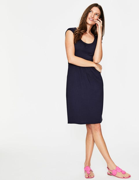 Margot Jersey Dress - Navy