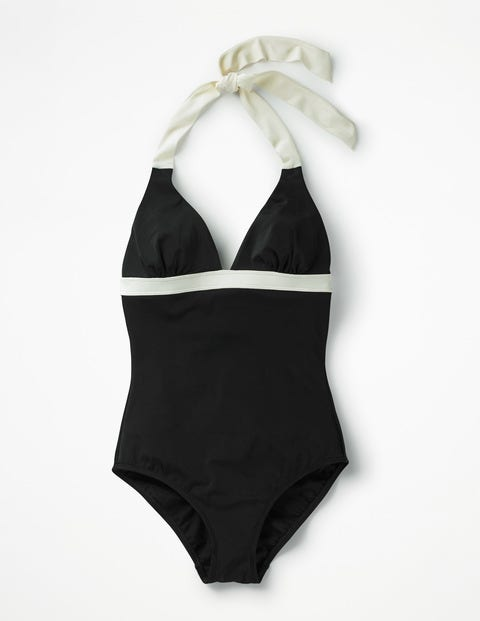 Positano Halter Swimsuit - Black