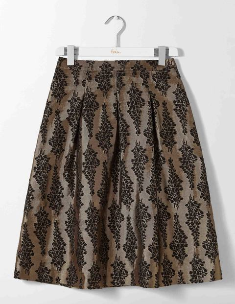 Jacquard Party Skirt Black and Pewter Jacquard Women Boden
