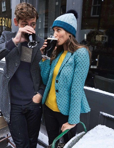 Elizabeth British Tweed Blazer T0068 Coats Jackets At Boden
