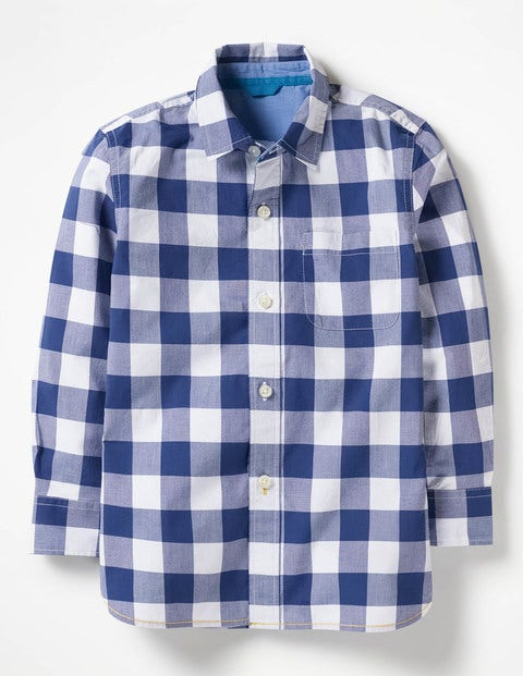 Laundered Shirt - Starboard Blue Gingham
