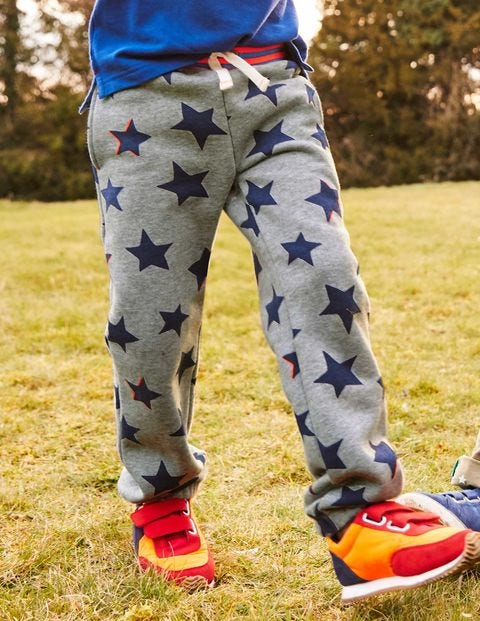 Fun Track Pants - Grey Marl Small Shadow Star