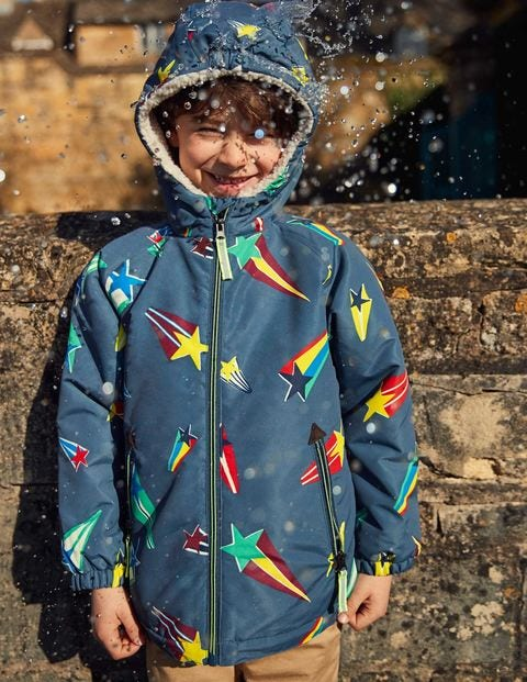 Sherpa-Lined Anorak - Robot Blue Superstar