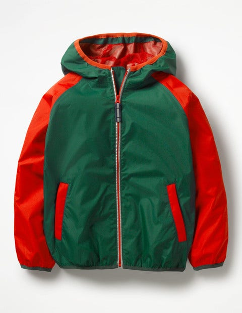 Packaway Waterproof Jacket - Scots Pine Green/Salsa Red
