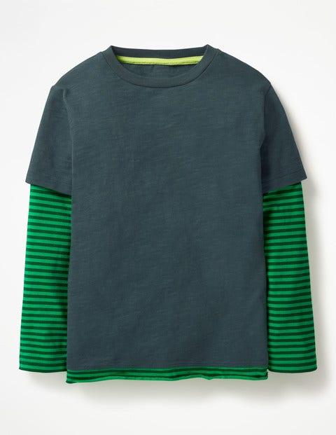 Layered T-Shirt - Robot Blue