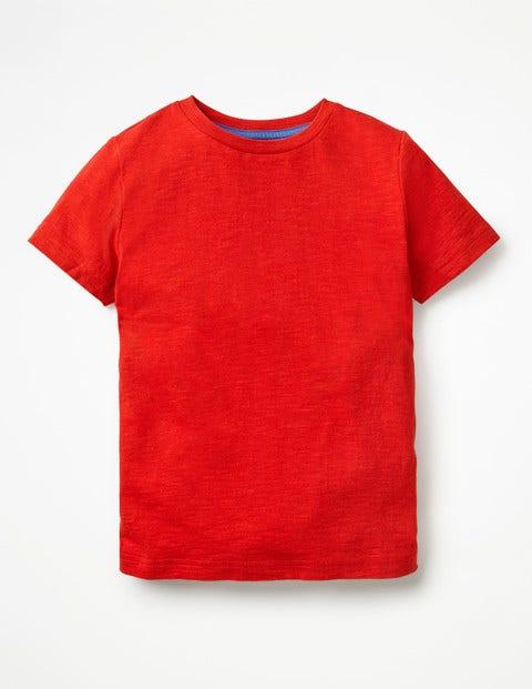 Slub Washed T-Shirt - Salsa Red