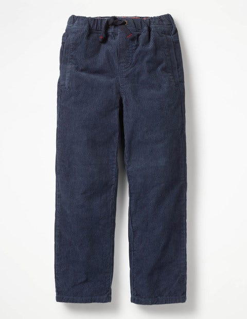 Cord Pull-on Trousers - School Navy