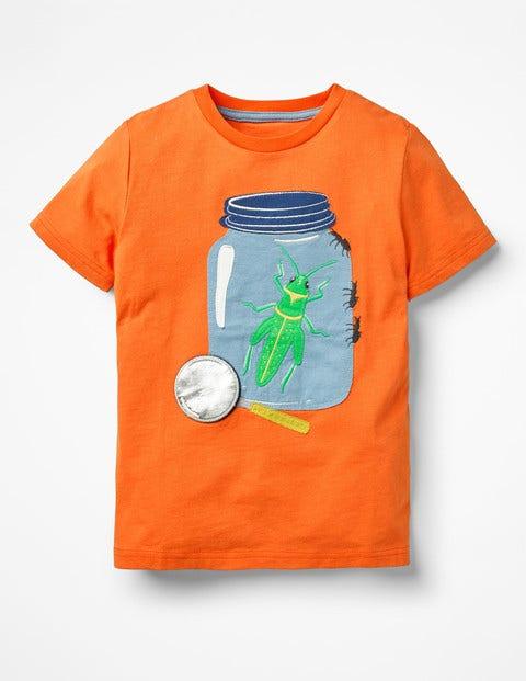 Novelty Pet T-Shirt - Mango Fizz Orange Bugs