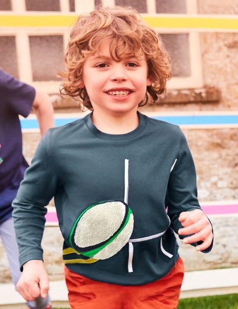 Bouclé Sports T-Shirt - Robot Blue Rugby