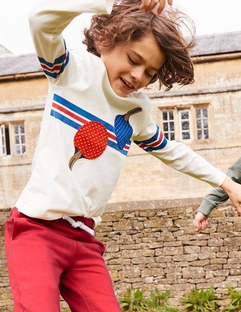 Stripy Sports T-Shirt - Ecru Ping Pong