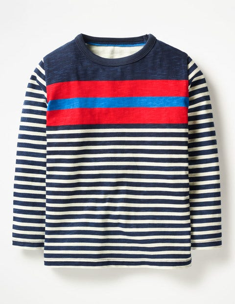 Stripy T-Shirt - School Navy Multi