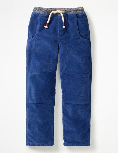 Lined Cord Pull-On Trousers - Orion Blue