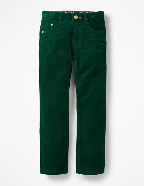 Slim Cord Jeans - Scots Pine Green