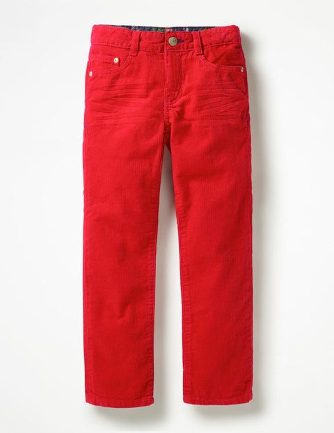 Slim Cord Jeans - Candy Apple Red