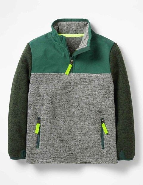 Sporty Half-Zip Sweatshirt - Scots Pine Green