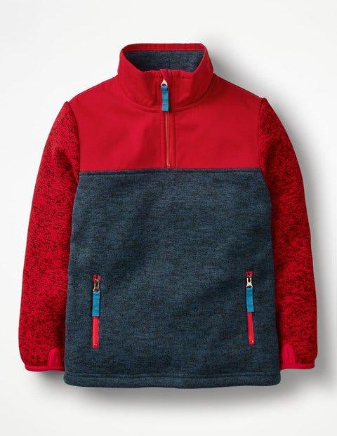 Sporty Half-zip Sweatshirt