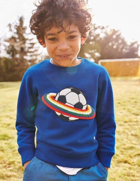 Bouclé Graphic Sweatshirt - Orion Blue Space Football