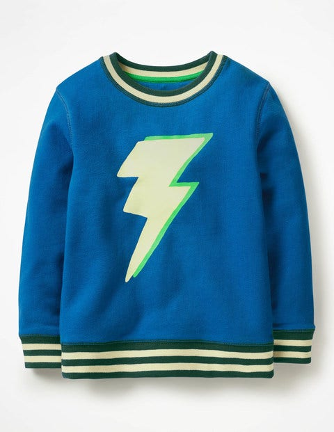 Fun Sweatshirt - Daphne Blue Lightning Bolt