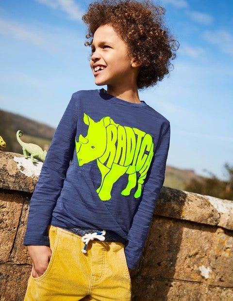 Neon Pop Animal T-Shirt - Starboard Blue Radical Rhino