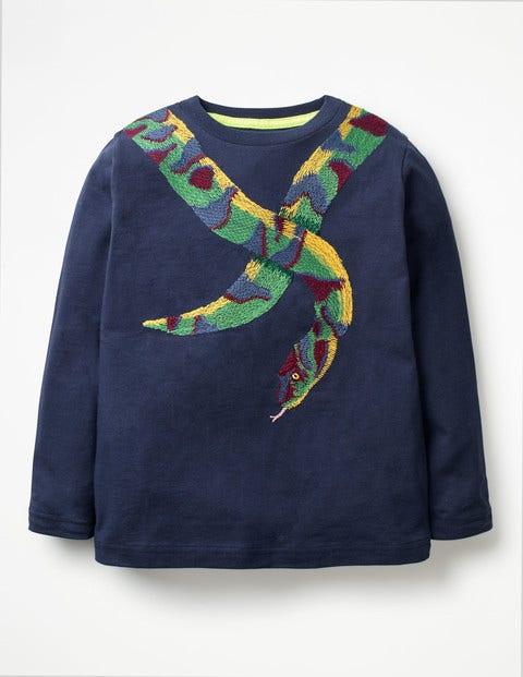 Wild Superstitch T-Shirt - School Navy Snake