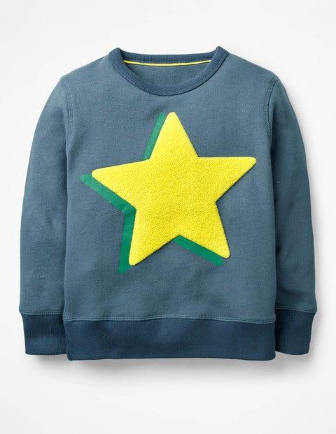 Sweatshirt Mit Logo - Roboterblau, Stern