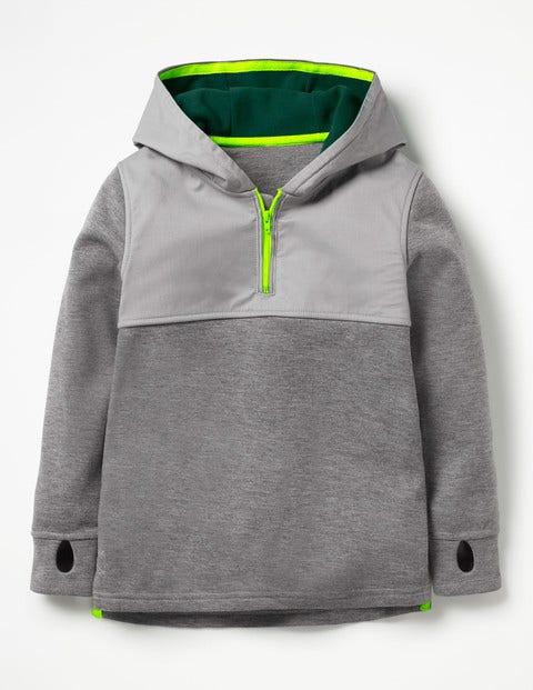 Active Half-Zip Hoodie - Dark Grey Jaspe
