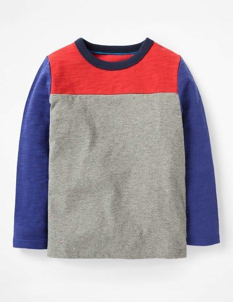 Sporty Colourblock T-Shirt - Grey Marl