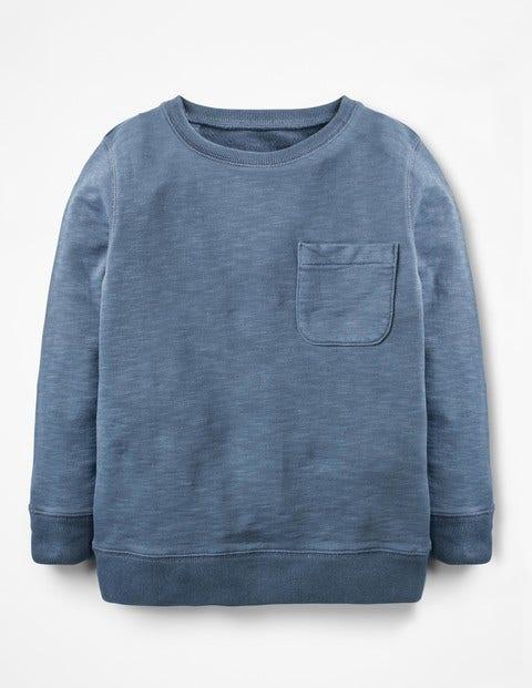 Garment-Dyed Sweatshirt - Robot Blue