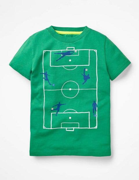 Sporty Graphic T-Shirt - Watercress Green Football