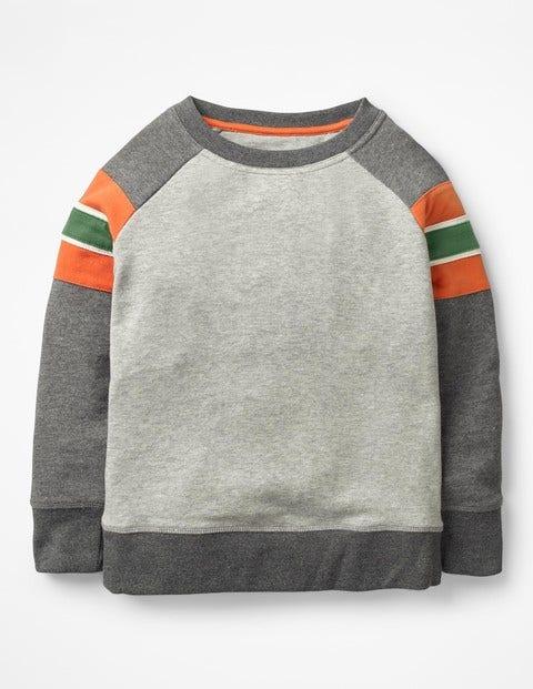 Sporty Sweatshirt - Grey Marl/Charcoal Marl