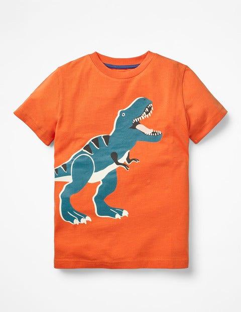 Glow-In-The-Dark T-Shirt - Mango Fizz Orange T-Rex