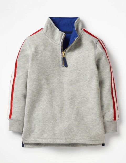 Half-Zip Sweatshirt - Grey Marl Jaspe