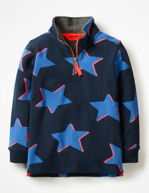 Half-Zip Sweatshirt - School Navy Shadow Star