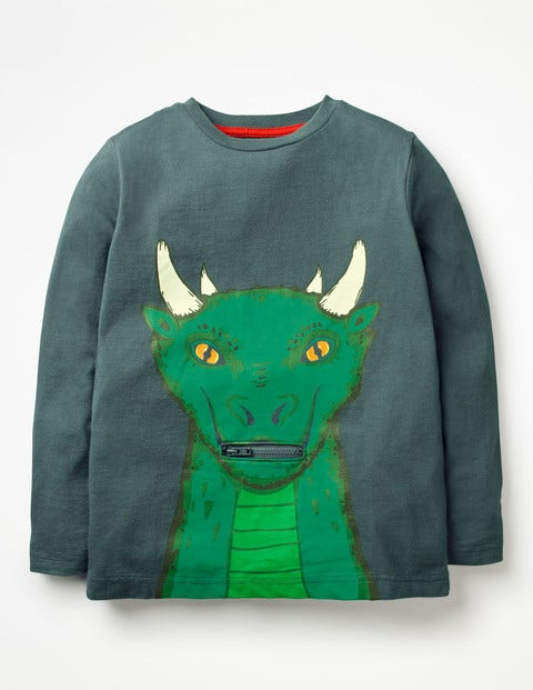 Novelty Creature T-Shirt - Robot Blue Dragon
